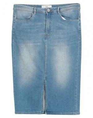 Джинсовая юбка ICHI. Цвет: синий