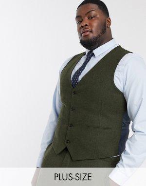 Свадебный жилет Plus-Зеленый цвет Harry Brown