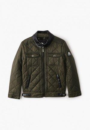 Куртка утепленная Alessandro Borelli Milano. Цвет: хаки