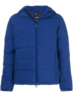 Hooded padded jacket Aspesi. Цвет: синий