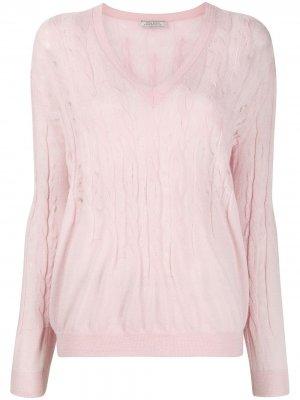 Джемпер фактурной вязки Nina Ricci. Цвет: розовый