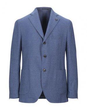 Пиджак GABRIELE PASINI. Цвет: пастельно-синий