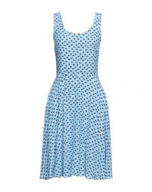 Платье миди CALVIN KLEIN JEANS. Цвет: небесно-голубой