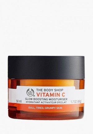 Крем для лица The Body Shop увлажняющий дневной Витамин С, 50 мл. Цвет: оранжевый