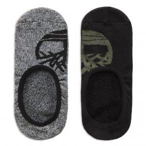 Носки 2 Pair Invisible Socks Timberland. Цвет: черный