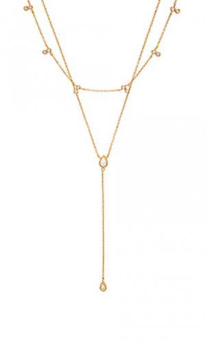 Ожерелье Elizabeth Stone. Цвет: металлический золотой