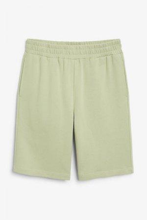 Спортивные шорты из хлопка Monki. Цвет: зеленый