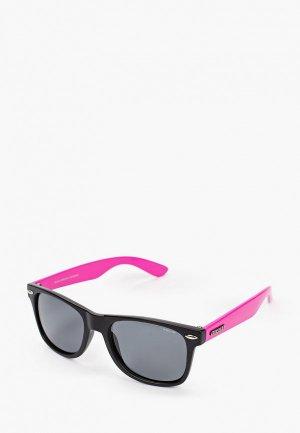 Очки солнцезащитные Brenda A501L matt black-pink-smoke. Цвет: черный