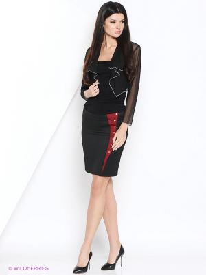 Юбка МадаМ Т. Цвет: черный, бордовый