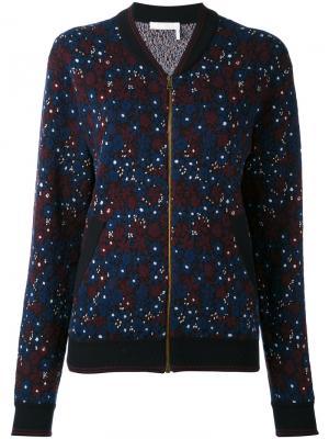 Куртка-бомбер с цветочным принтом Chloé. Цвет: синий