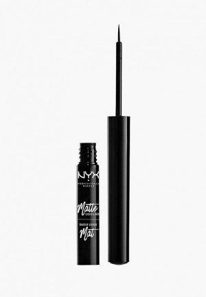 Подводка для глаз Nyx Professional Makeup Matte Liquid Liner, оттенок 01, Black, 2 мл. Цвет: черный