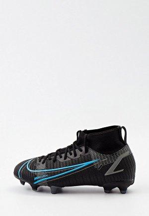 Бутсы Nike JR SUPERFLY 8 ACADEMY FG/MG. Цвет: черный