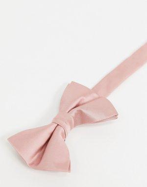 Подтяжки и галстук-бабочка розового цвета Wedding-Розовый ASOS DESIGN