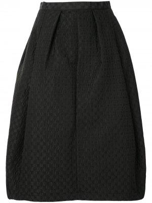 Фактурная юбка миди Comme Des Garçons Tricot. Цвет: черный