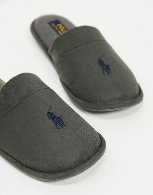 Серые слиперы -Серый Polo Ralph Lauren