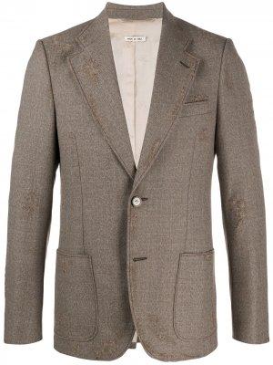 Пиджак с эффектом потертости Marni. Цвет: коричневый