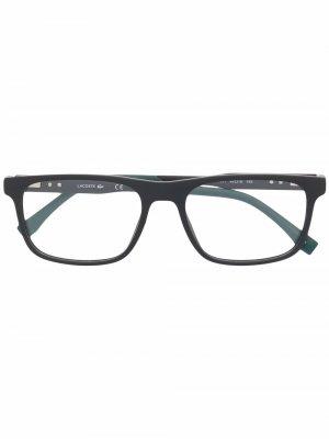 Очки в квадратной оправе Lacoste. Цвет: черный