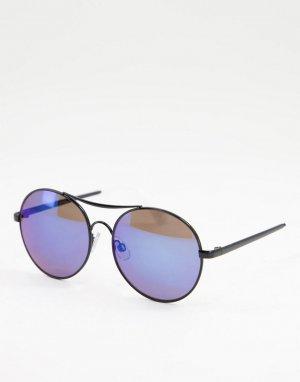 Круглые солнцезащитные очки с синими линзами -Голубой Jeepers Peepers