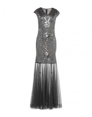 Длинное платье MANGANO. Цвет: серый