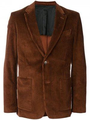 Пиджак на двух пуговицах AMI Paris. Цвет: коричневый