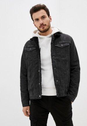 Куртка джинсовая Jack & Jones. Цвет: черный
