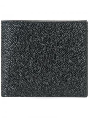 Бумажник с полосатой отделкой Thom Browne. Цвет: черный