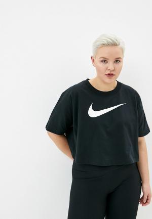 Футболка Nike W NSW SWSH TOP SS PLUS. Цвет: черный