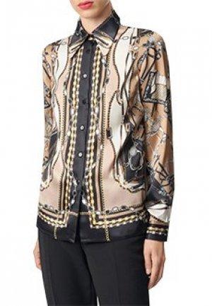 Блуза LUISA SPAGNOLI. Цвет: коричневый
