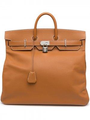 Дорожная сумка Haut À Courroies 50 2008-го года Hermès. Цвет: коричневый
