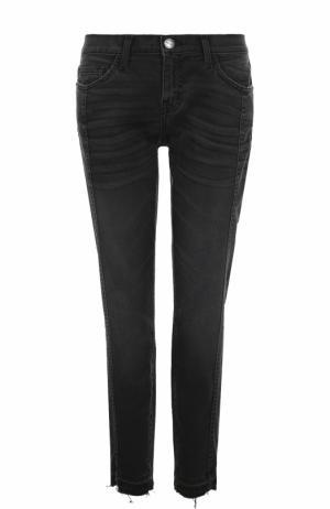 Укороченные джинсы с потертостями Current/Elliott. Цвет: черный