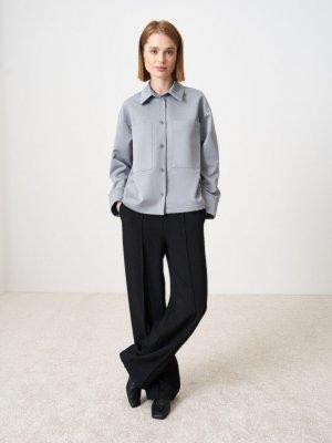 Рубашка Edna с большими карманами GATE31. Цвет: светло-серый