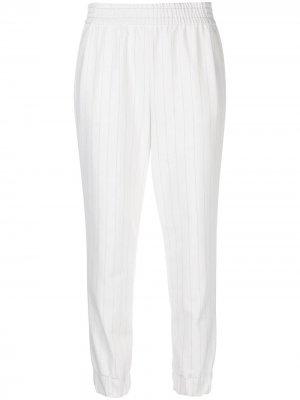 Зауженные брюки Pete Alice+Olivia. Цвет: белый