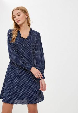 Платье LOST INK POLKA DOT TEA DRESS. Цвет: синий