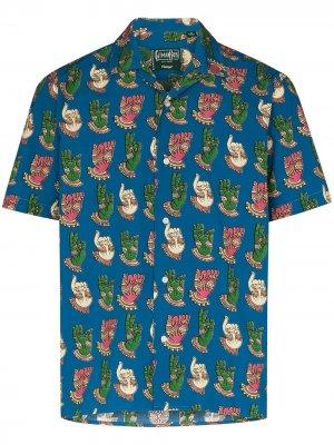 Рубашка Kalakamari с принтом Gitman Vintage. Цвет: синий