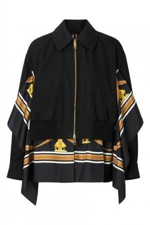 Укороченная куртка-бомбер Burberry. Цвет: черный