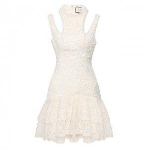Кружевное платье Alexis. Цвет: белый