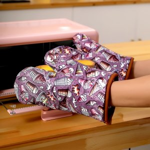 Перчатки для микроволновой печи с мороженым 1шт SHEIN. Цвет: многоцветный