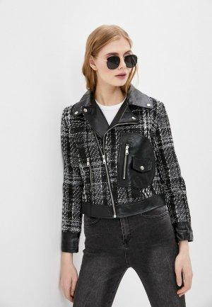 Куртка кожаная Elsi. Цвет: серый