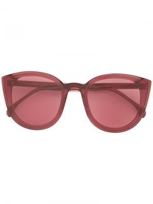 Солнцезащитные очки в оправе кошачий глаз Spektre. Цвет: красный