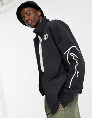 Черная олимпийка от комплекта Signature-Черный Karl Kani