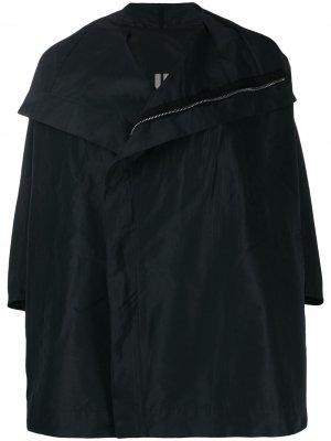 Куртка-кейп на молнии Rick Owens. Цвет: черный