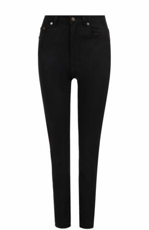 Однотонные джинсы прямого кроя Saint Laurent. Цвет: чёрный