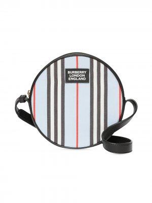 Сумка через плечо в полоску Icon Stripe Burberry Kids. Цвет: синий