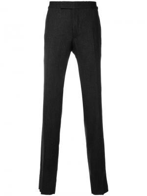 Классические брюки кроя слим Tom Ford. Цвет: серый