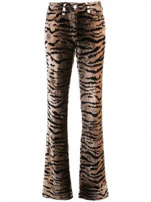 Расклешенные фактурные брюки Giambattista Valli. Цвет: черный
