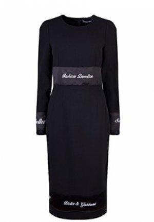 Платье DOLCE&GABBANA. Цвет: черный