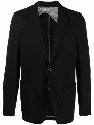 Однобортный пиджак строгого кроя Billionaire. Цвет: черный