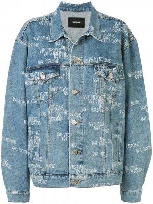 Джинсовая куртка оверсайз с логотипом We11done. Цвет: синий