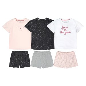 Комплект из 3 пижам LaRedoute. Цвет: серый