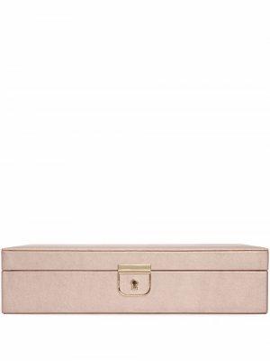 Шкатулка для украшений Palermo среднего размера WOLF. Цвет: розовый